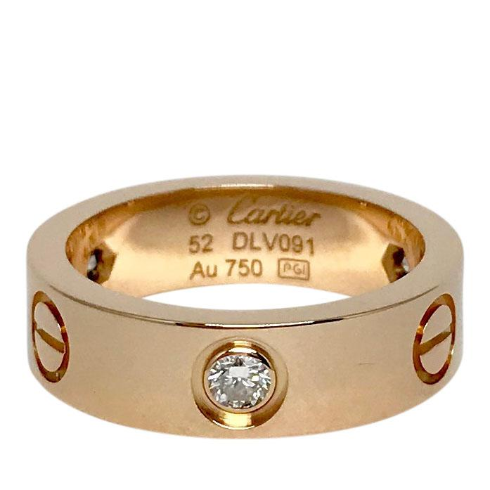 Cartier Love Ring with 3 Diamonds Rings Cartier
