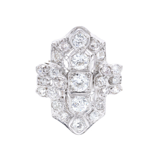 Antique Art Deco Platinum & Diamond Brooch/Pendant Brooches & Pins Antiques
