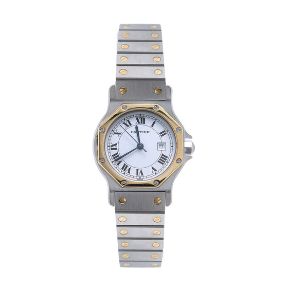 Cartier Two-Tone Santos Octagon Watch Watches Cartier