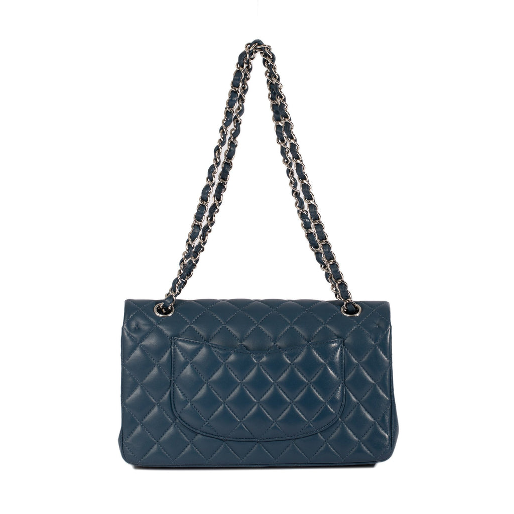 Chanel 2018 Navy Lambskin Medium Classic Double Flap Bag Bags Chanel