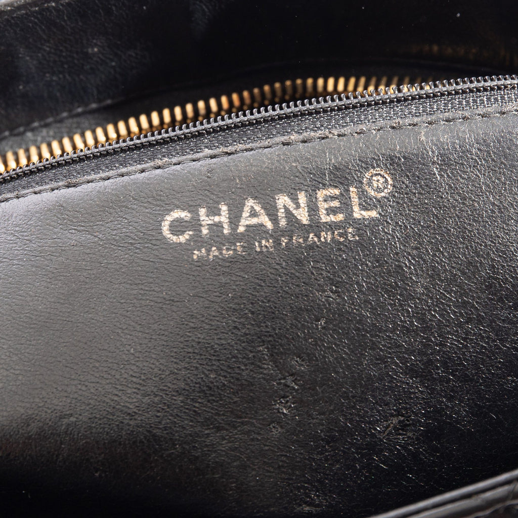 Chanel Black Lambskin Medallion Tote Bags Chanel
