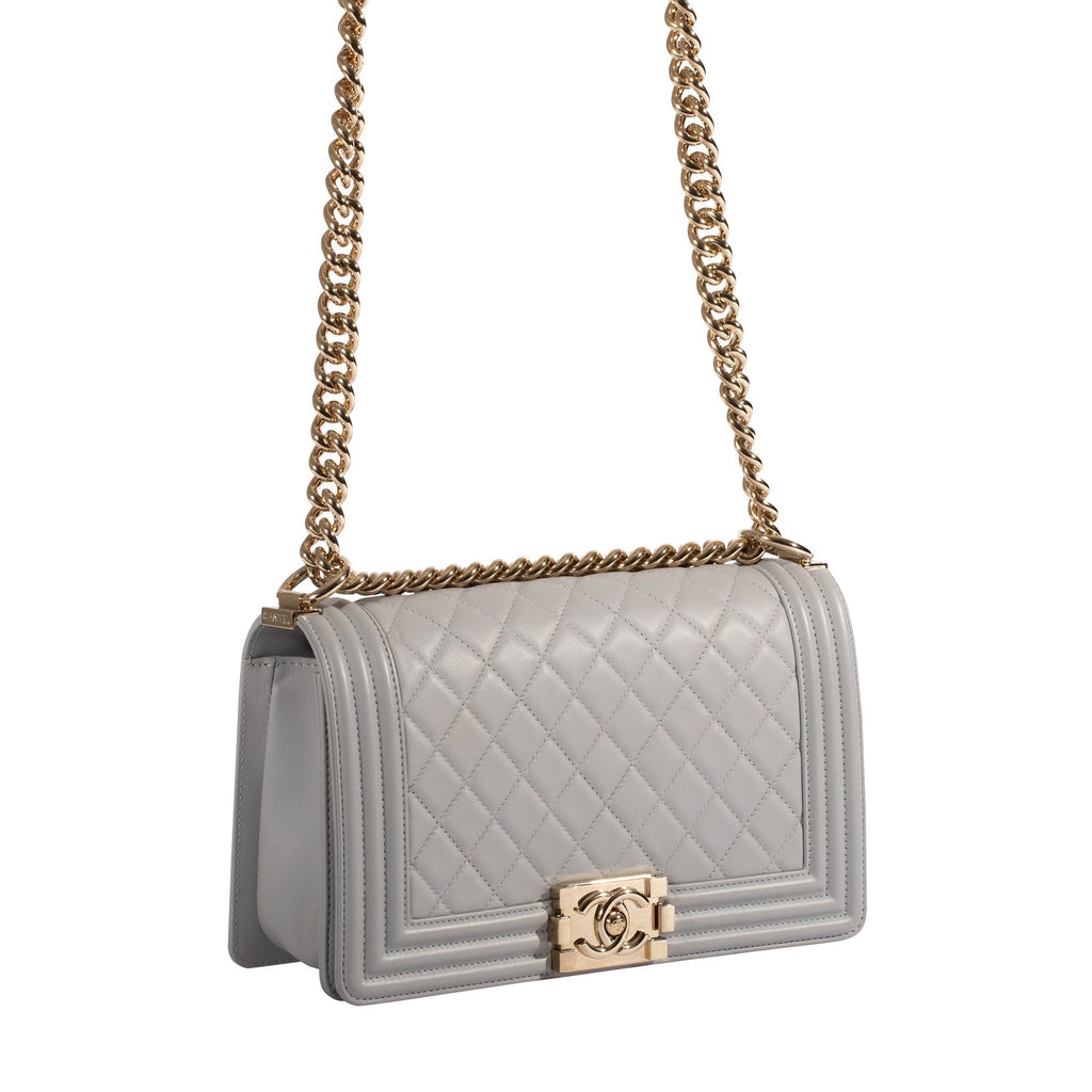 Chanel Grey Medium Boy Bag Bags Chanel