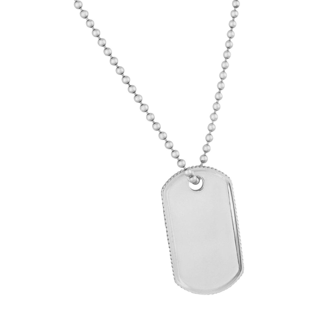Tiffany & Co. Coin Edge Tag Pendant Necklace Necklaces Tiffany & Co.