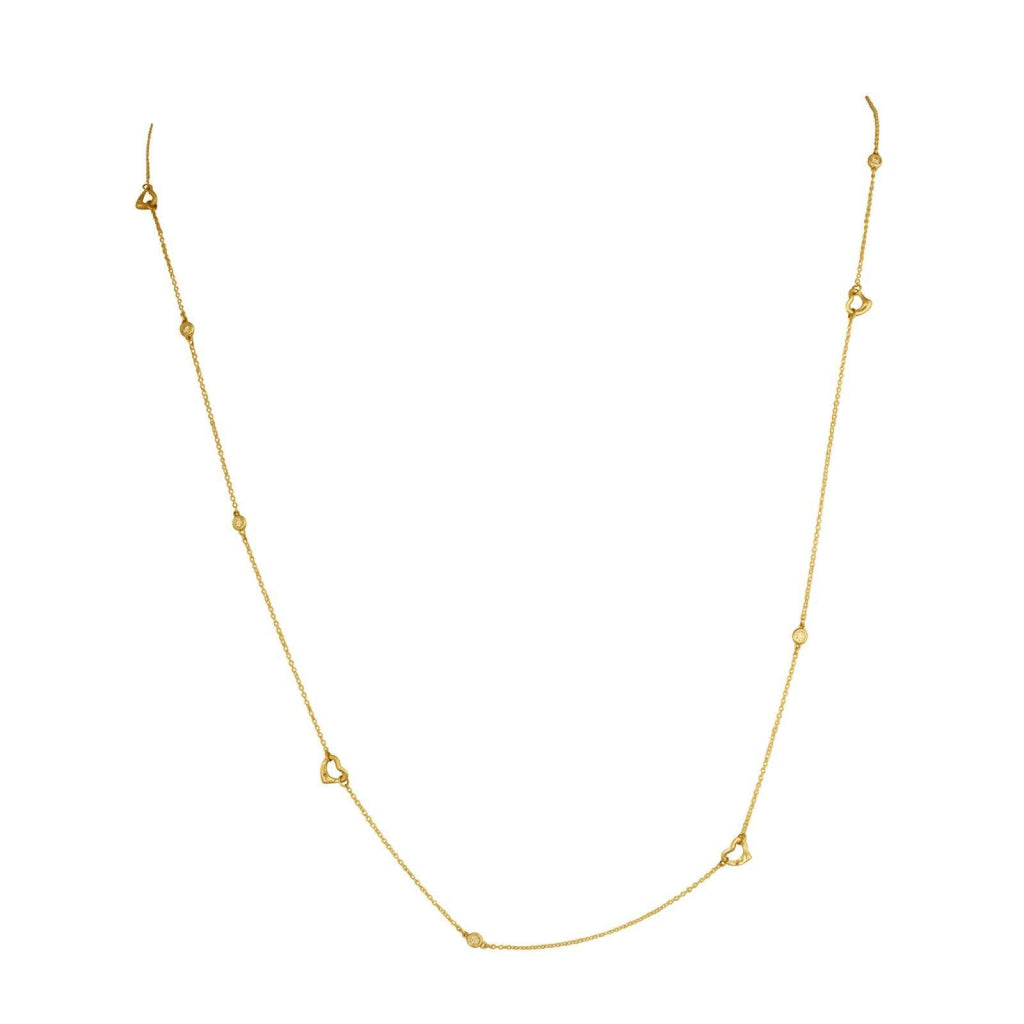 Tiffany Elsa Peretti Diamonds by the Yard Open Heart Sprinkle Necklace Necklaces Tiffany & Co.