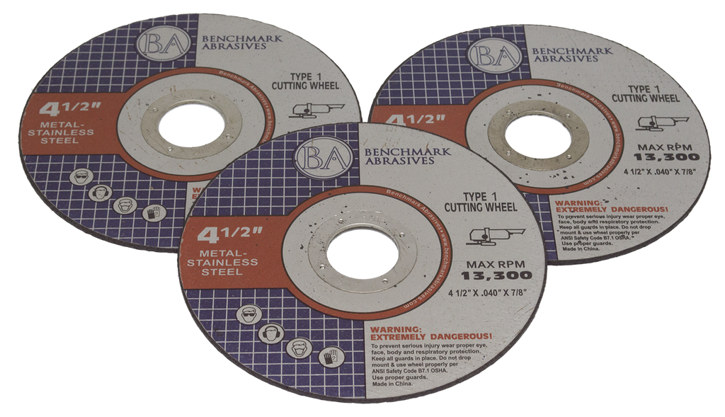 "4-1/2"" x .040 x 7/8"" T1 Premium Thin Cut-off Wheel - 25 pack"