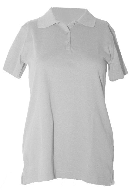 "S/S Interlock Feminine Fit ""LORIEN WOOD"" Monogrammed Polo with Ribbed Cuff - Form 4"