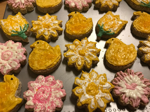 Half-Dozen Lemon Handcrafted Granola Flower Novelties