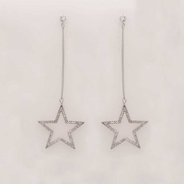 WISHING ON A STAR Rhinestone Drop Earrings