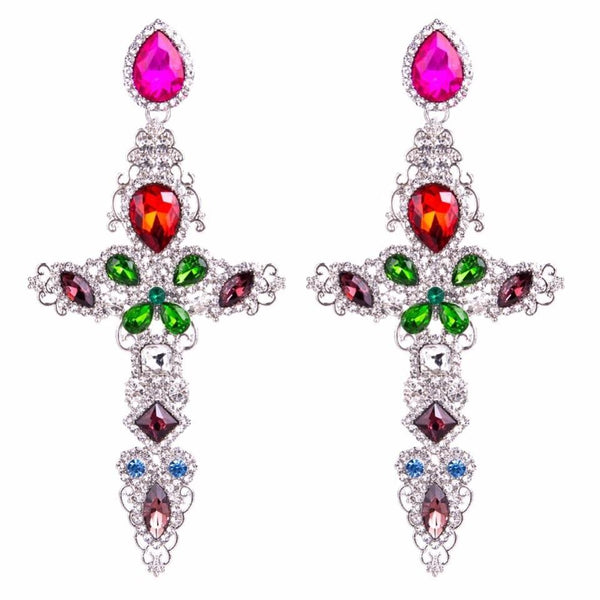 SIGN OF THE CROSS Oversize Earrings