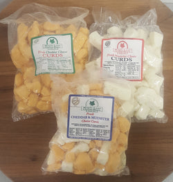 Cheese Curds, plain and flavored 16oz