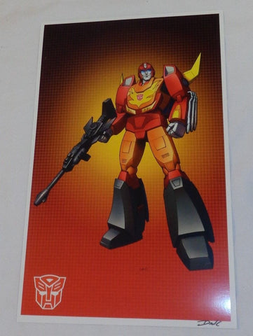 G1 Transformers Autobot Rodimus Prime Poster 11x17 Box Art Grid FREESHIPPING