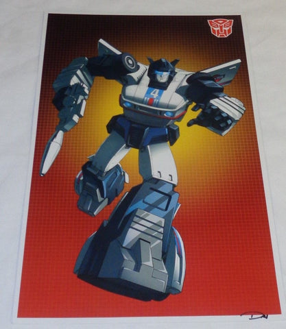 G1 Transformers Autobot Jazz Poster 11x17 Box Art Grid FREESHIPPING