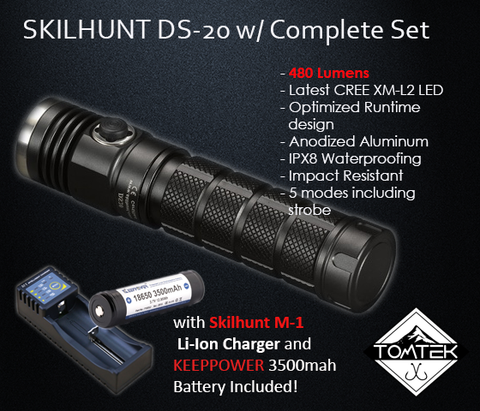 Skilhunt DS20 480 Lumens Flashlight