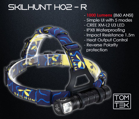 Image of Skilhunt H02R 1000 Lumens Headlamp