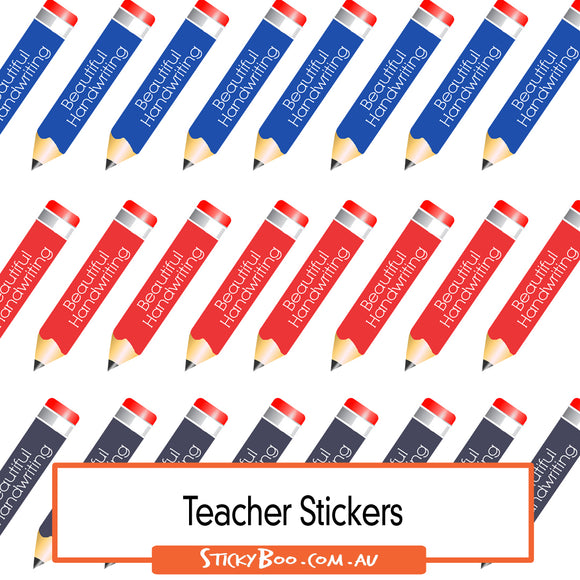 Reward Stickers - Beautiful handwriting