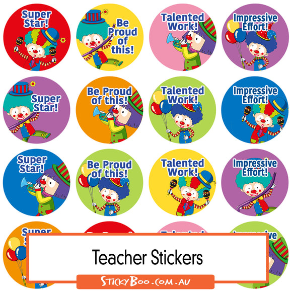 Reward Stickers - Clown Fun