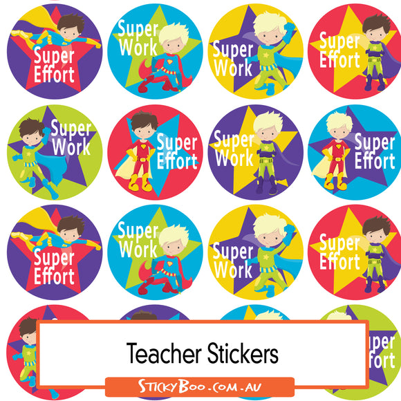 Reward Stickers - Super Kid