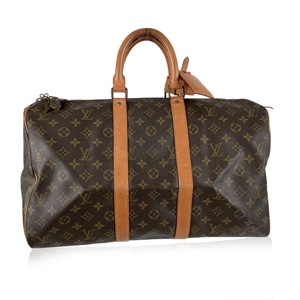 Louis Vuitton Vintage Monogram Keepall 45 Travel Bag