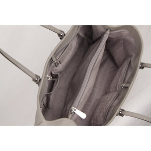 Gray Jet Set Travel Tote Bag