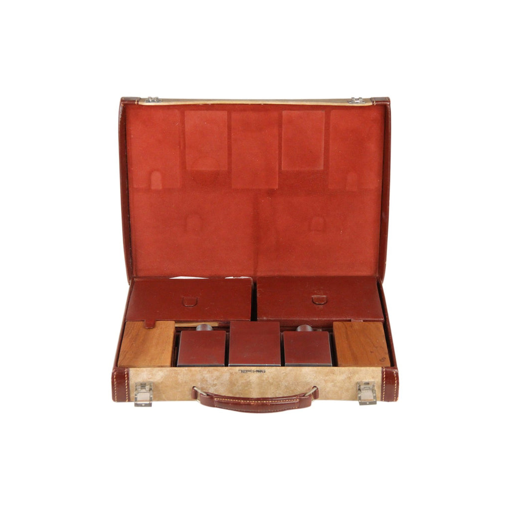 Hermes Hermes Vintage Leather Travel Grooming Set with Toiletry Accessories
