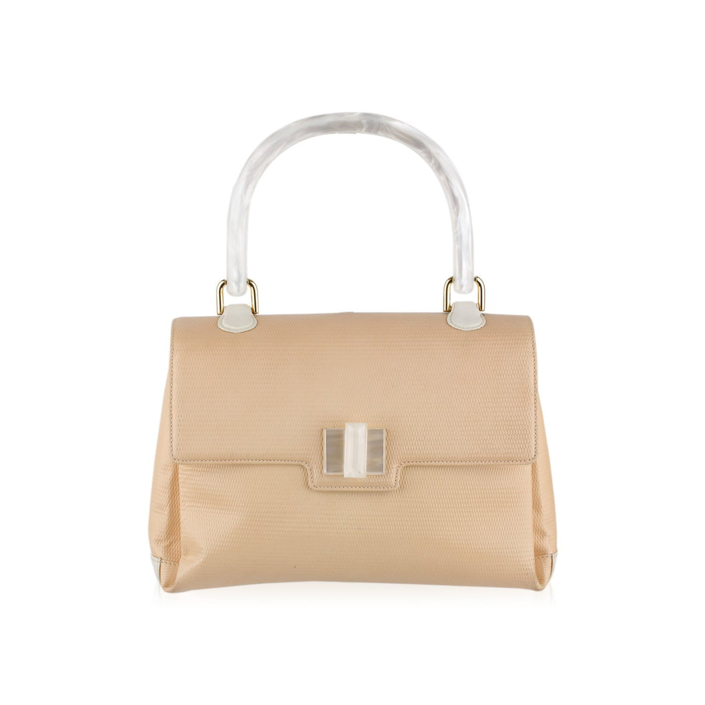 Gucci Textured Handbag with Lucite Handle
