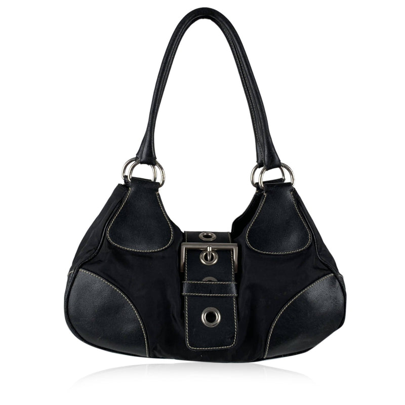 Prada Buckle Hobo Bag