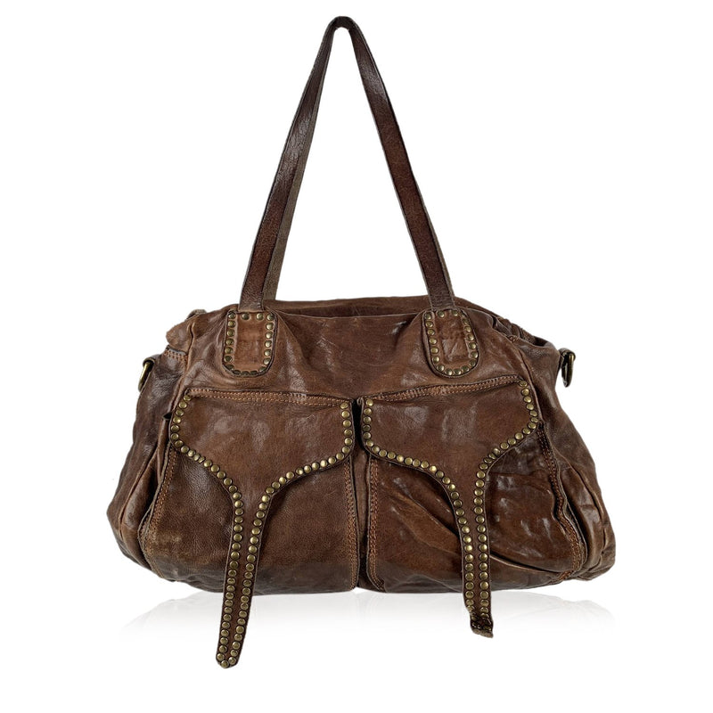 Campomaggi Satchel Bag with Studs