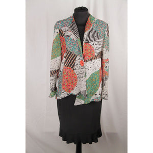 Joseph Ribkoff Multicolor Knit Jacket And Skirt Set Size 6 Opherty & Ciocci