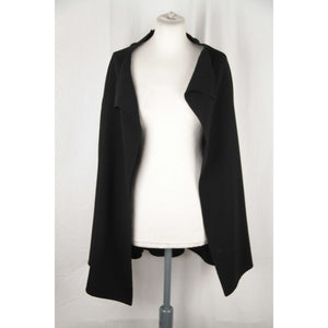 OZEN Black Wool OPEN FRONT CARDIGAN Size 42