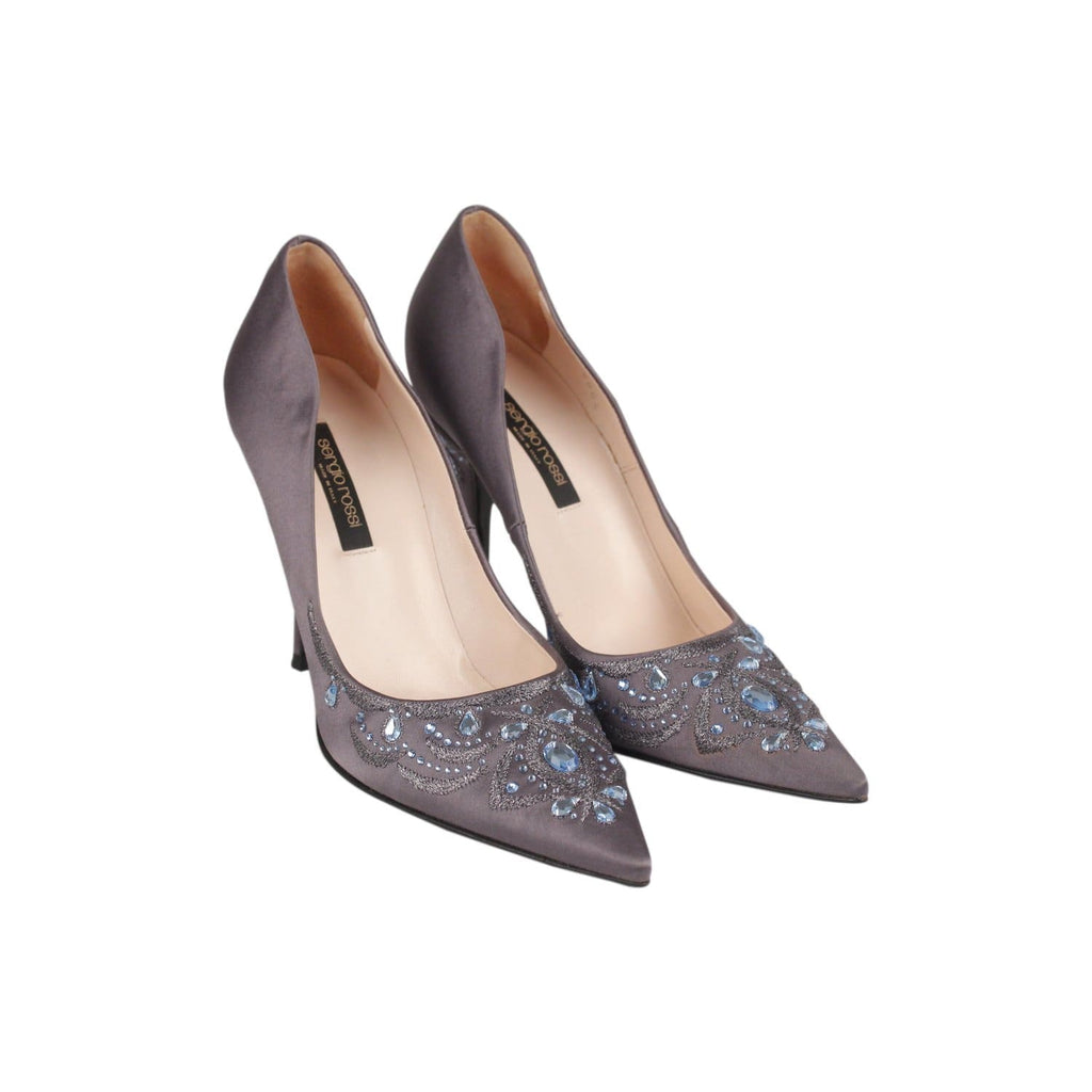 Embellished Satin Classic Pumps Size 38 Opherty & Ciocci