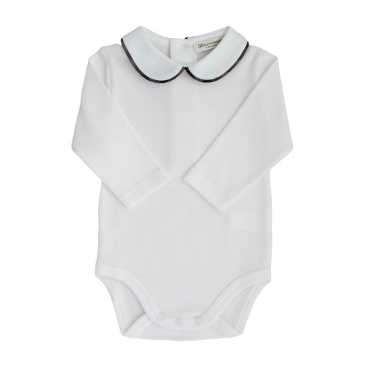 baby bodysuit peter pan collar soft cotton