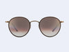 Garrett Leight Wilson Sun (Brown Pearl-Brushed Gold-Powder Mauve with Sunset Gradient Lens)