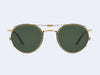 Garrett Leight Wilson Clip (Antique Gold with Green Lens)