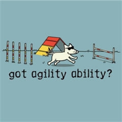 Agility Ability T-Shirt - Classic Garment Dyed - Teddy the Dog T-Shirts and Gifts