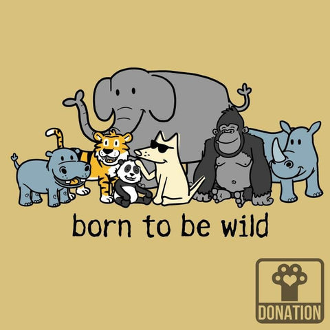 Born To Be Wild - Ladies T-Shirt V-Neck