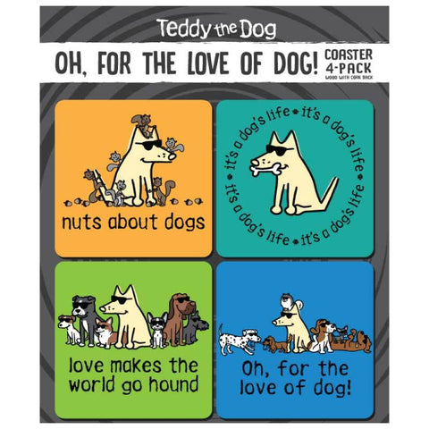Oh, For The Love Of Dog! - Coaster 4-Pack