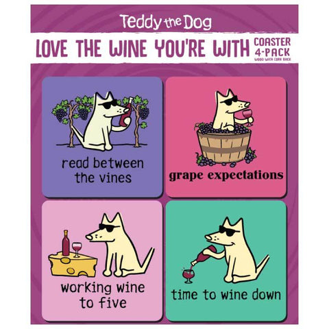 Love The Wine You're With - Coaster 4-Pack