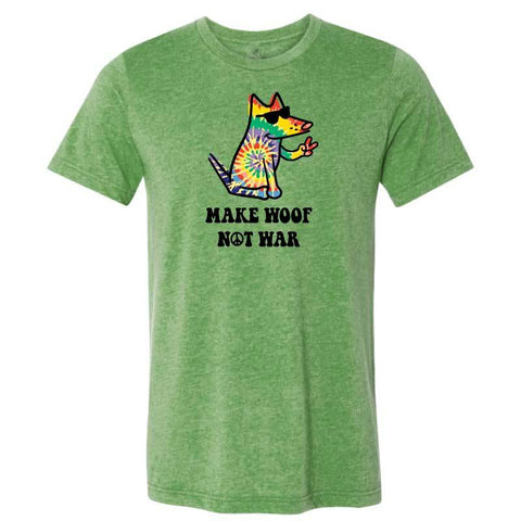 Make Woof, Not War  - Lightweight Tee