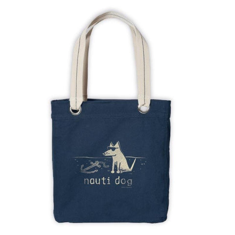 Teddy's Nauti Dog Canvas Tote - Teddy the Dog T-Shirts and Gifts