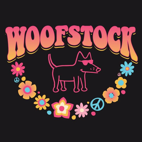 Woofstock - Ladies Curvy V-Neck Tee
