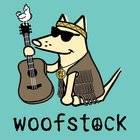 Woofstock - Guitar - Ladies Curvy V-Neck Tee