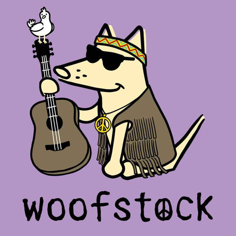 Woofstock - Guitar - Ladies T-Shirt V-Neck