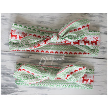 Holiday Top Knot Headbands, Fair Isle