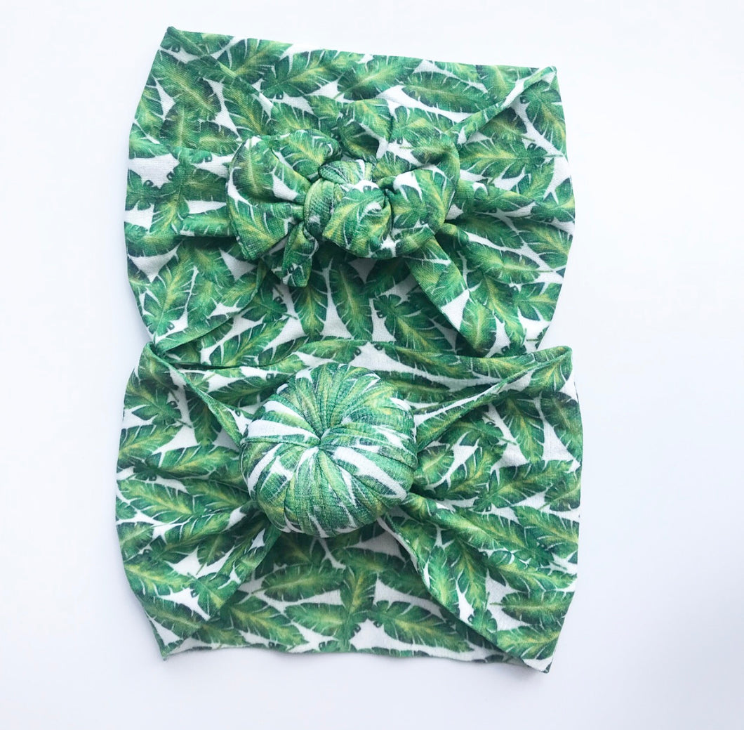 Nylon Headwraps- Tropical Leaf