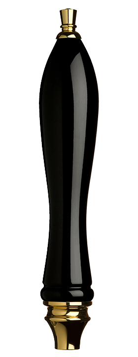 Large Black Pub Tap Handle with Gold