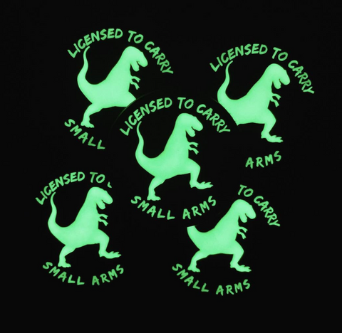 GLOW Licensed to Carry Small Arms Patch