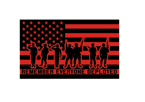 """Remember Everyone Deployed"" Sticker"