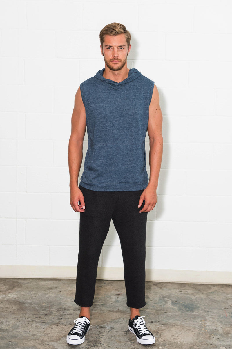 Men's Sleeveless Tri-Blend Hoodie