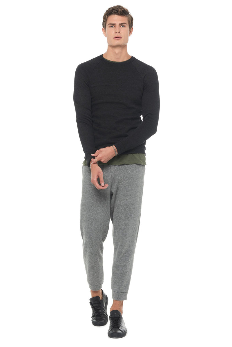 Men's French Terry Slim Fit Pullover Sweatshirt