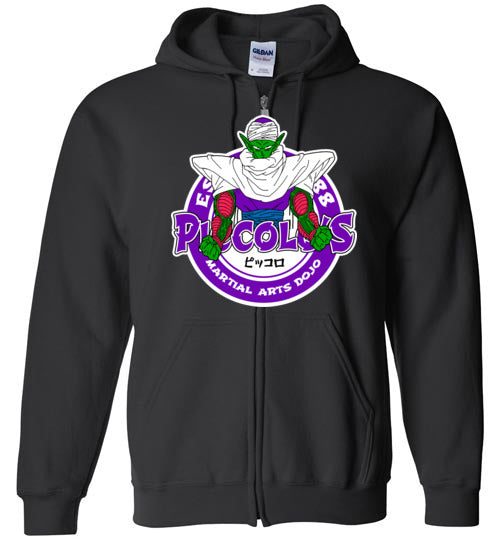 Super Namekian's Dojo-Anime Zipper Hoodies-Carlo1956|Threadiverse